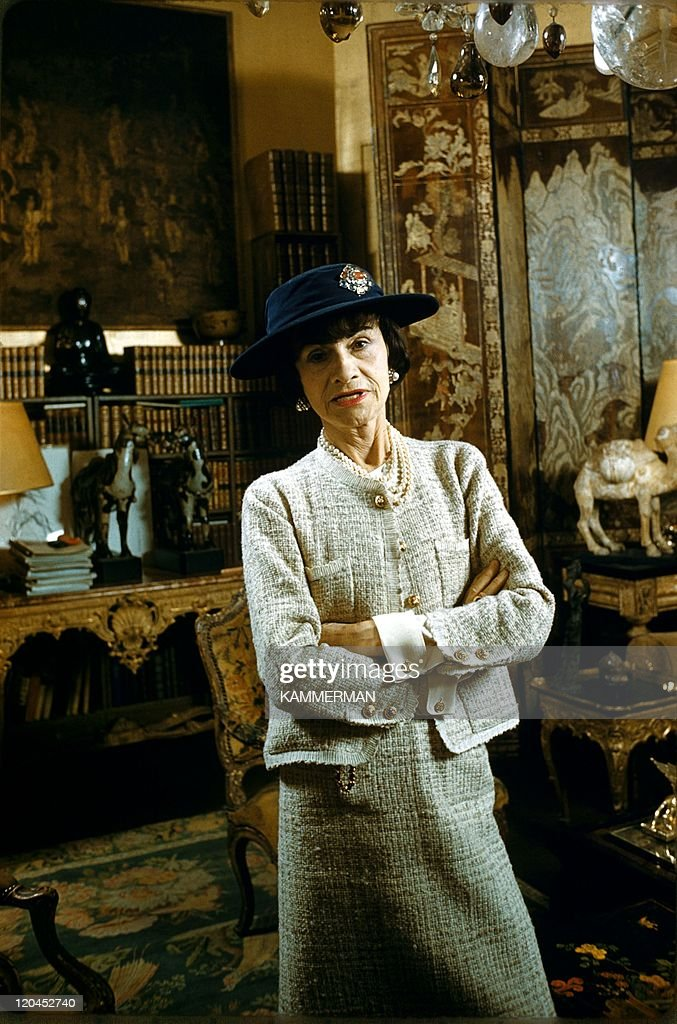 Miss Chanel in Paris, France in 1954 - Coco Chanel's appartment, Cambon street in Paris
