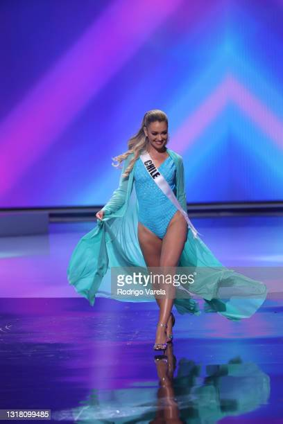 Miss Chile Daniela Nicolas appears onstage at the Miss Universe 2021 Preliminary Competition at Seminole Hard Rock Hotel & Casino on May 14, 2021 in...