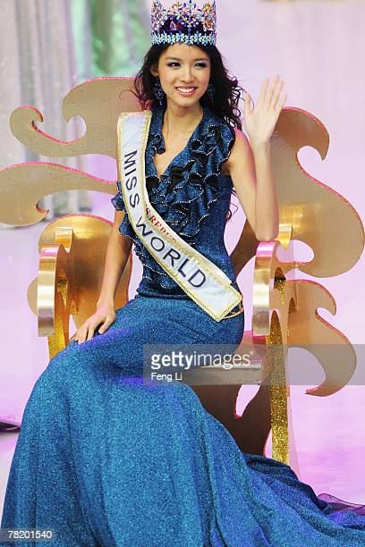 Miss China PR Zi Lin Zhang waves to crowd after she won the title of Miss World 2007 at the 57th Miss World final contest at the Beauty Crown Theatre...