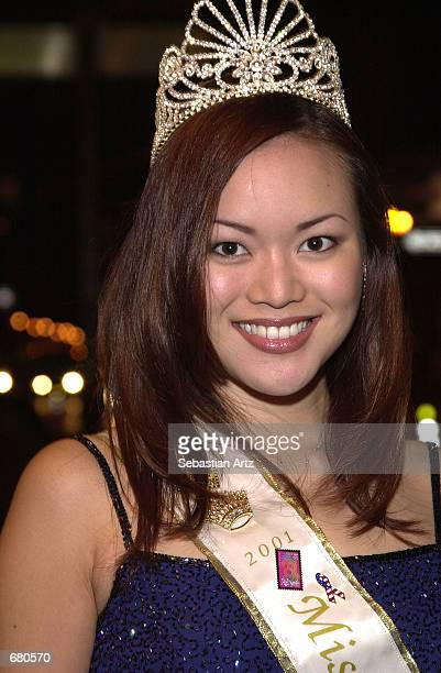 Miss LA China Town Lyn Yang arrives at the Second Annual AMMY Awards For Asian American Entertainment November 10 2001 in Los Angeles CA