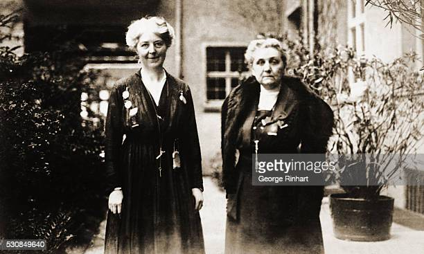 Miss Chrystal Macmillan ViceChairman and Miss Jane Addams of Chicago Chairman of the International Women's Peace Convention in Zurich Switzerland