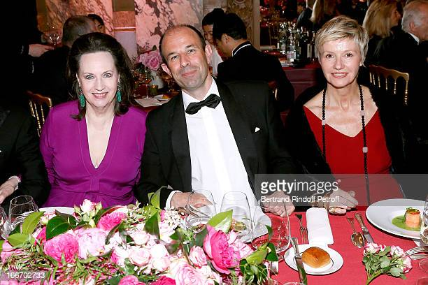 Miss Claude Janssen Christophe Tardieu attend Tricentenary of the French dance school AROP Gala at Opera Garnier on April 15 2013 in Paris France