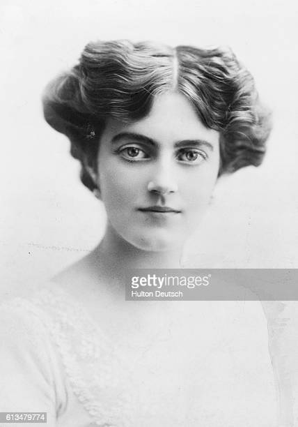 Miss Clementine Hozier the daugher of Sir Henry Hozier before her marriage to the politician Sir Winston Churchill in 1908