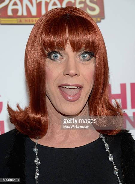 """Miss Coco Peru attends the opening night of """"Hedwig And The Angry Inch"""" at the Pantages Theatre on November 2, 2016 in Hollywood, California."""