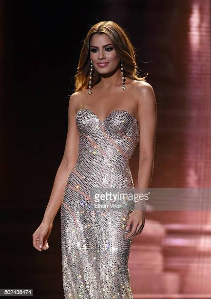 Miss Colombia 2015 Ariadna Gutierrez Arevalo competes in the evening gown competition during the 2015 Miss Universe Pageant at The Axis at Planet...