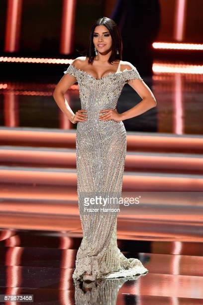 Miss Colombia 2017 Laura Gonzalez competes in the evening gown competition during the 2017 Miss Universe Pageant at The Axis at Planet Hollywood...