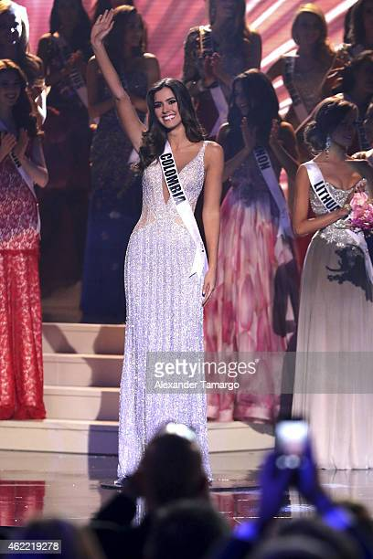 Miss Colombia Paulina Vega is crowned Miss Universe 2015 onstage during The 63rd Annual Miss Universe Pageant at Florida International University on...
