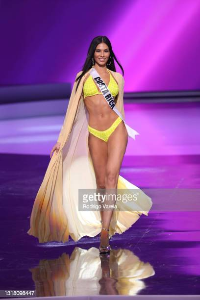 Miss Costa Rica Ivonne Cerdas Cascante appears onstage at the Miss Universe 2021 Preliminary Competition at Seminole Hard Rock Hotel & Casino on May...