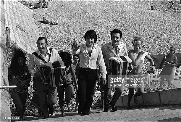 Miss Cote D'Azur Election Aimable Monty Andre Verchuren In Nice France On October 06 1969