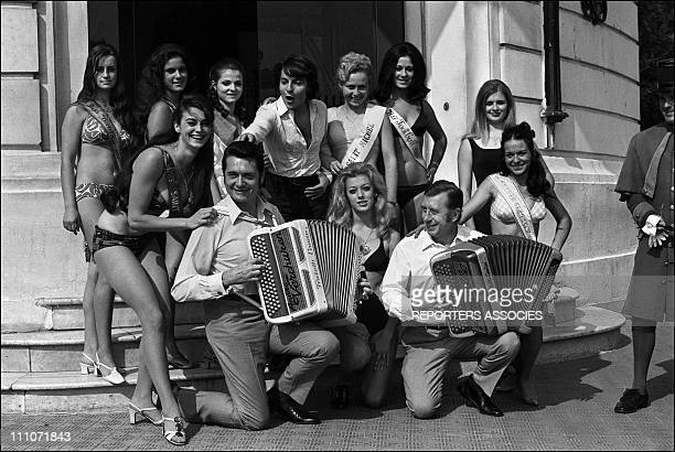 Miss Cote D'Azur Election The Miss Andre Verchuren Monty Aimable In Nice France On October 06 1969