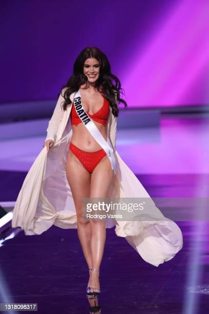 Miss Croatia Mirna Naiia Maric appears onstage at the Miss Universe 2021 Preliminary Competition at Seminole Hard Rock Hotel & Casino on May 14, 2021...