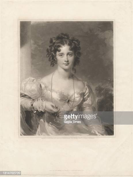 Miss Croker, Print made by Samuel Cousins, 1801–1887, British, after Sir Thomas Lawrence, 1769–1830, British, Published by M. Colnaghi, established...