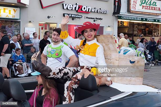 Miss Cumberland County Area Olivia Cruz takes part in the Miss New Jersey In Toyland Parade at Ocean City New Jersey Boardwalk on June 15, 2016 in...
