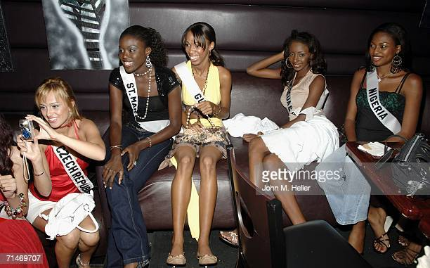 Miss Czech Republic Renata Langmannova Miss St Martin Gisella Hilliman Miss Guyana Alana Ernest Miss Antigua Barbuda Shari Mcewan and Miss Nigeria...