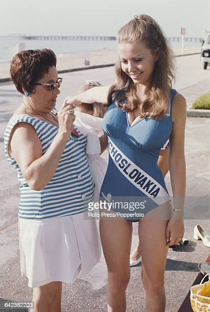 Miss Czechoslovakia Kristina Hanzalova pictured at Miami Beach for the Miss Universe 1970 beauty pageant in the United States in July 1970 During the...