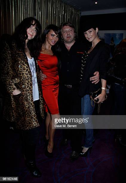 Miss D Lizzie Cundy Mark Fuller Claire Merry at a showing of Mark Heyes new book at the Sanctum Hotel on March 30 2010 London England