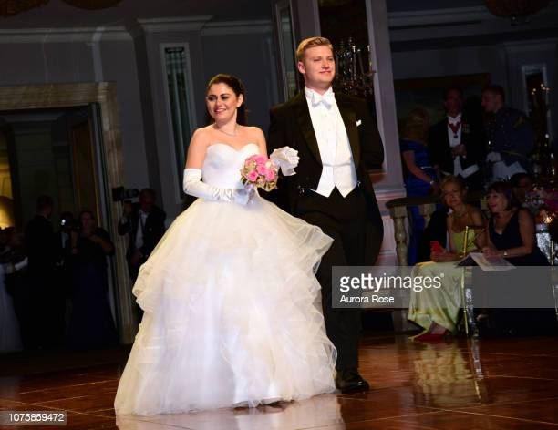 Miss Daniella Helena Cass attend The International Debutante Ball at The Pierre Hotel on December 29 2018 in New York City