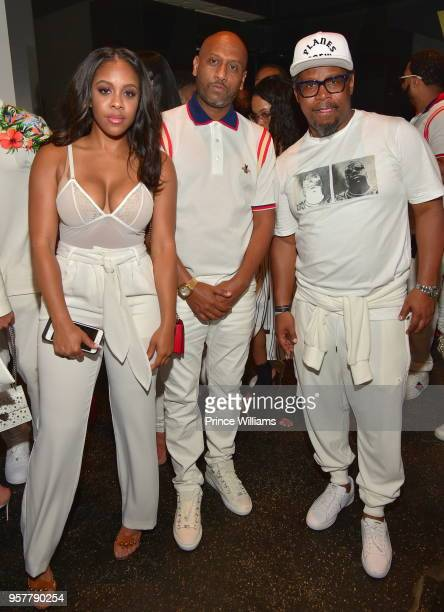 Miss Diddy Alex Gidewon and Emory Jones attend The All White Affair at Gold Room on May 12 2018 in Atlanta Georgia
