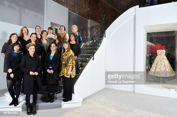 Miss Dior Exhibition Artists attend the 'Esprit Dior Miss Dior' Exhibition Opening in Galerie Courbe at Grand Palais on November 12 2013 in Paris...