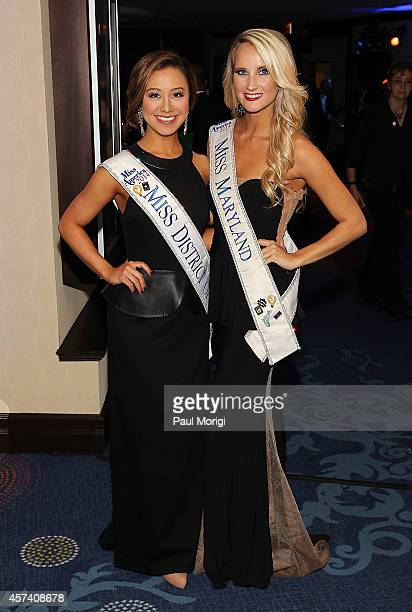 Miss District of Columbia 2014 Teresa Davis and Miss Maryland 2014 Taylor Burton attend the 2014 USO Gala Honoring Those Who Serve at Washington...