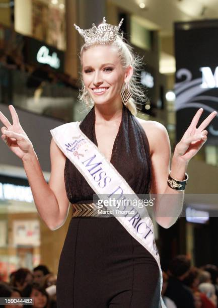 Miss District of Columbia Allyn Rose introduced at the 2013 Miss America Pageant 'Meet and Greet' Fashion Show at the Fashion Show mall on January 5...
