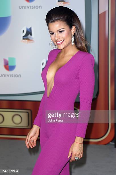 Miss Dominican Rep Clarissa Molina attends the Univision's 13th Edition Of Premios Juventud Youth Awards at Bank United Center on July 14 2016 in...