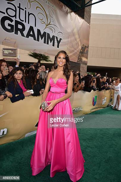 Miss Dominican Republic 2014 Massiel Peguero attends the 15th annual Latin GRAMMY Awards at the MGM Grand Garden Arena on November 20 2014 in Las...