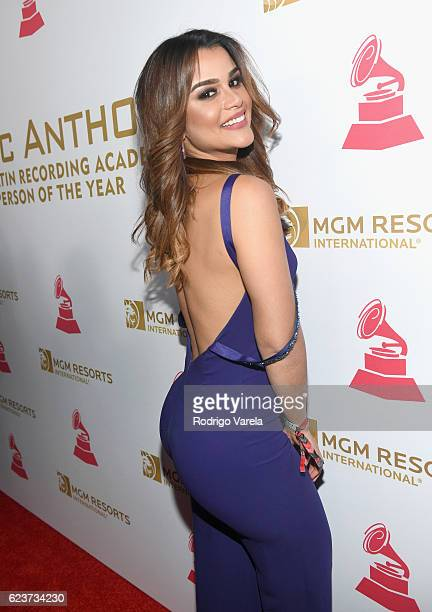Miss Dominican Republic 2015 Clarissa Molina attends the 2016 Person of the Year honoring Marc Anthony at the MGM Grand Garden Arena on November 16...