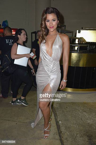 Miss Dominican Republic Clarissa Molina attends the Univision's 13th Edition Of Premios Juventud Youth Awards at Bank United Center on July 14 2016...