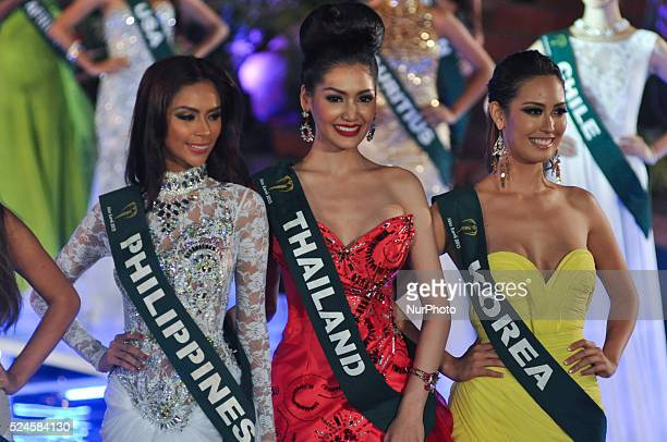 Miss Earth 2013 candidates during the pageant's grand coronation night held in Alabang Muntinlupa City south of Manila on Saturday 07 December 2013...