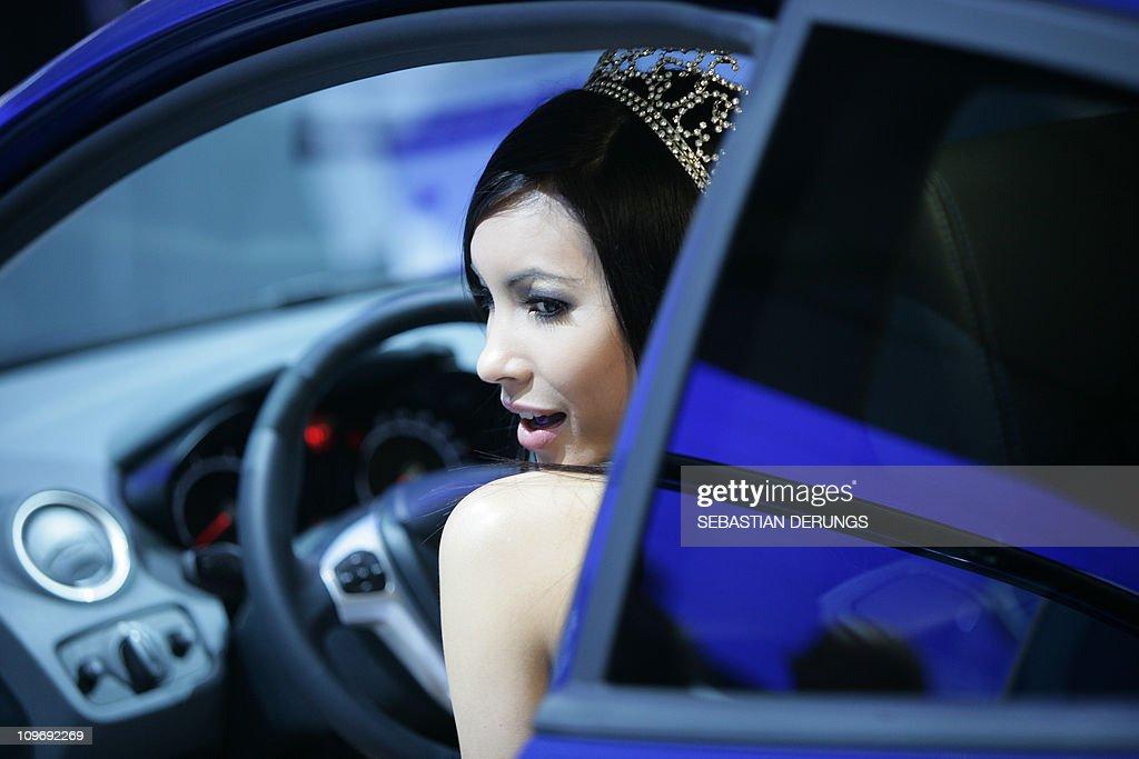 Miss Earth Andrea Kuster from Switzerlan : News Photo
