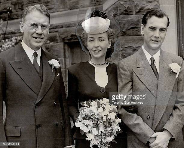 Miss Edith Allison Ilsley daughter of Hon J L Ilsley minister of finance and Mrs Ilsley of Ottawa today became the bride of John Bruce son of Mrs...