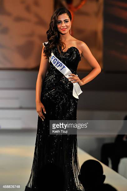 Miss Egypt Perihan Fateen competes during The 54th Miss International Beauty Pageant 2014 at Grand Prince Hotel New Takanawa on November 11 2014 in...