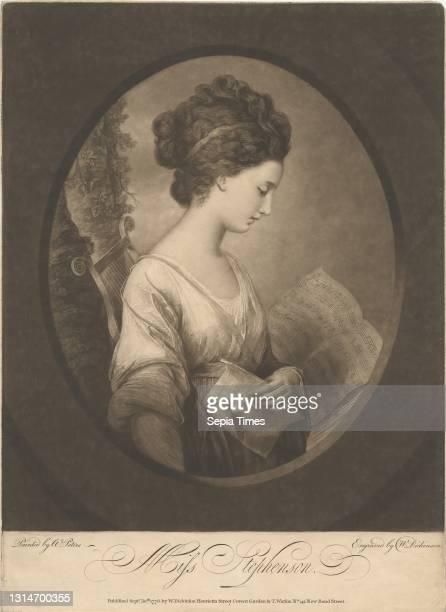 Miss Elizabeth Stephenson, later Elizabeth Savile, Countess of Mexborough, Print made by William Dickinson, 1746–1823, British, after Matthew William...