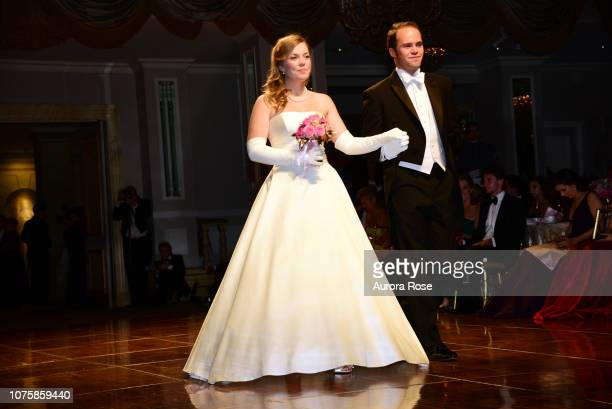 Miss Ella Albright Ekstrom attends The International Debutante Ball at The Pierre Hotel on December 29 2018 in New York City