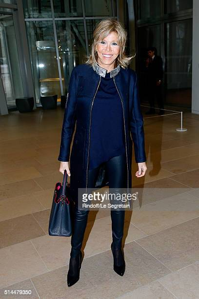 Miss Emmanuel Macron attends the Louis Vuitton show as part of the Paris Fashion Week Womenswear Fall/Winter 2016/2017 Held at Louis Vuitton...