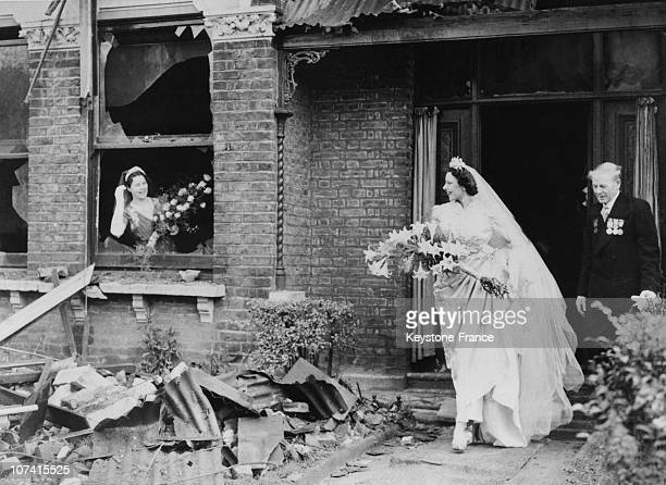 Miss Ena SquireBrown an international dancer famed for her 'Dove Dance' leaves her recently bombed home for St George's Church in Forest Hill to...