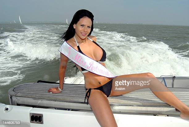 Miss England 2007 contestant and current 2007 Miss Portsmouth 21 year old Stacey Marshall on a photoshoot in the Solant Stacey will now go on to...