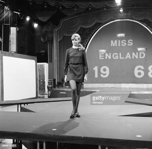 Miss England Beauty Competition 1968 rehearsals at the Lyceum Ballroom London Friday 26th April 1968 Pictured Miss Manchester Jennifer Lowe Summers