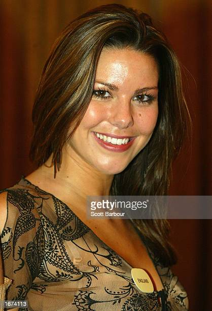 Miss England Daniella Luan attends a Miss World press conference December 5 2002 in London The Miss World competition was moved from its original...