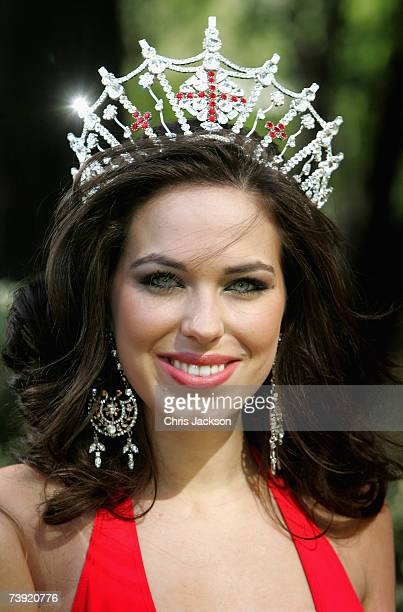 Miss England Eleanor Glynn poses for a photograph at the Multicultural Beauty photocall to promote St Georges Day on April 19 2007 in London England