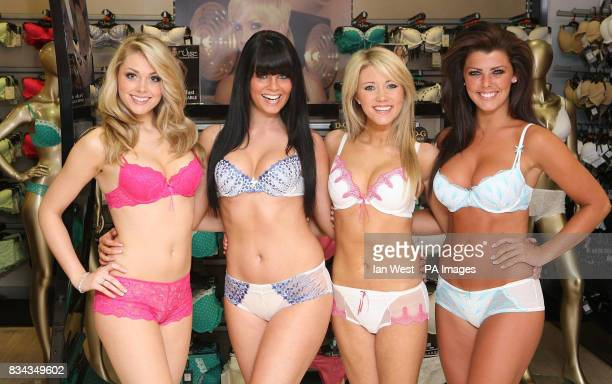Miss England Georgia Horsley Miss Northern Ireland Melissa Patton Miss Wales Kelly Pesticcio and Miss Scotland Nieve Jennings are all fitted for bras...