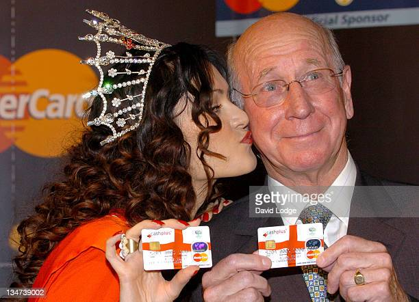 Miss England Hammasa Kohistani and Sir Bobby Charlton