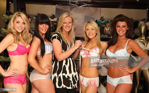 Miss England Miss Wales Miss Northern Ireland And Miss Scotland Join Ultimo Creator Michelle Mone At Debenhams Bra Fit Event Oxford Street London