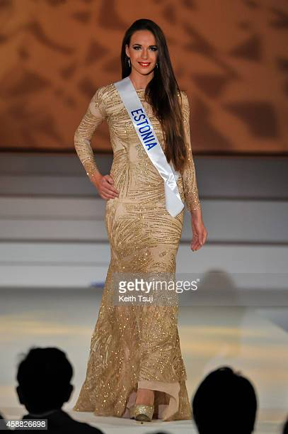Miss Estonia Birgit Konsin competes during The 54th Miss International Beauty Pageant 2014 at Grand Prince Hotel New Takanawa on November 11 2014 in...