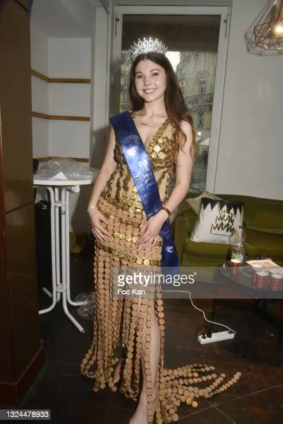 Miss Europe Asia 2021 2nd Runup Diana Melnychuk attends Miss Europe Asia 2021 Contest Ceremony at Hotel Normandy le Chantier on June 19, 2021 in...