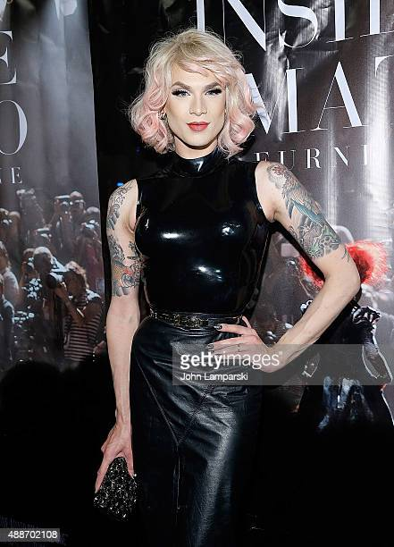 Miss Fame attends 'Inside Amato' New York premiere at Liberty Theater on September 16 2015 in New York City