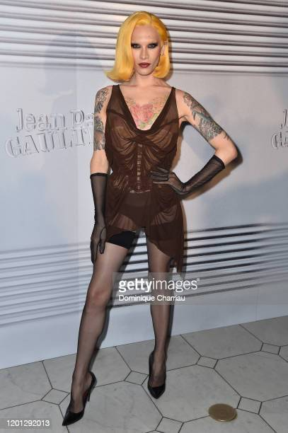 Miss Fame attends the JeanPaul Gaultier Haute Couture Spring/Summer 2020 show as part of Paris Fashion Week at Theatre Du Chatelet on January 22 2020...