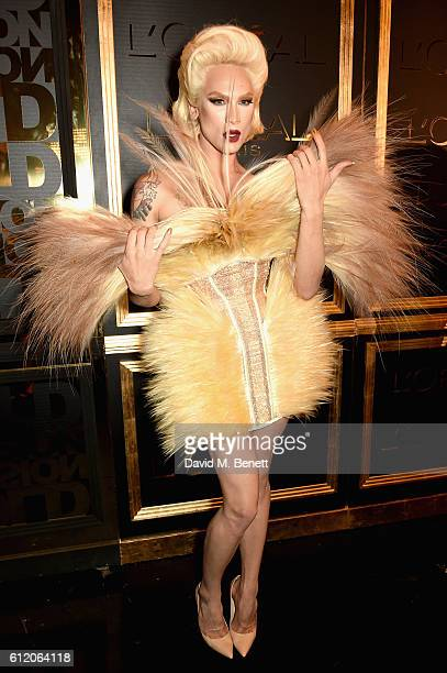 Miss Fame attends the L'Oreal Paris Gold Obsession Party at Hotel de la Monnaie on October 2 2016 in Paris France