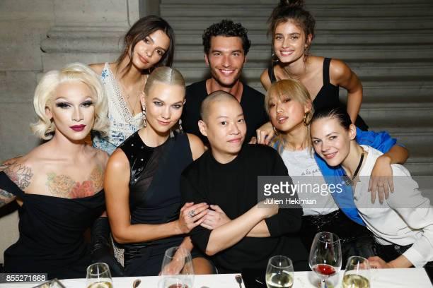Miss Fame Emily Ratajkowski Karlie Kloss Jason Wu Aurelian Muller Margaret Zhang Taylor Hill Kinga Rajzak attend the Atelier Swarovski By Jason Wu...